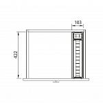 DIVISOR DE TALHERES INOX - 103 x 450 mm